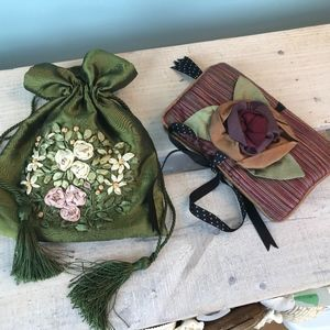 Pair of Jewelry or Make-up Pouches